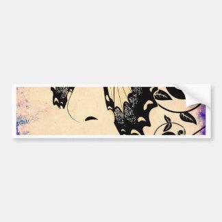 Grunge Summer Girl with Floral 2 Bumper Sticker