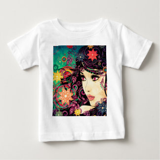 Grunge Summer Girl with Floral 3 Tshirt
