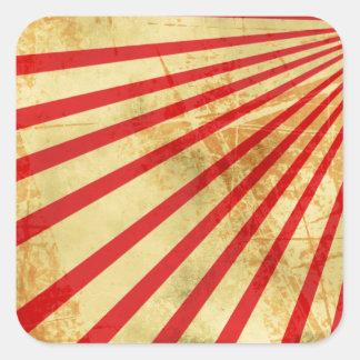 Grunge sun. square sticker
