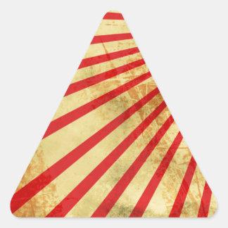 Grunge sun. triangle sticker