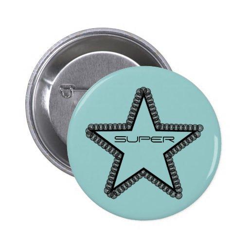 Grunge Superstar Button