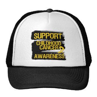 Grunge Support Childhood Cancer Awareness Cap