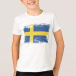 Grunge Sweden Flag Tshirt