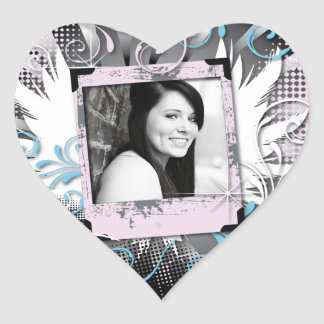 Grunge Sweet Sixteen Sticke Heart Sticker