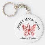 Grunge Tattoo Butterfly 6.1 AIDS Keychains