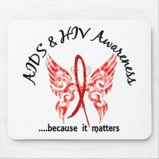 Grunge Tattoo Butterfly 6.1 AIDS Mousepads