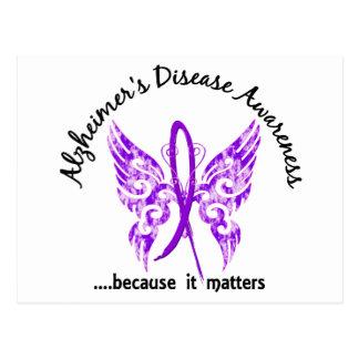 Grunge Tattoo Butterfly 6.1 Alzheimer's Disease Postcard