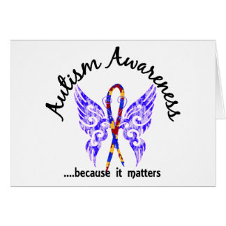 Grunge Tattoo Butterfly 6.1 Autism Card
