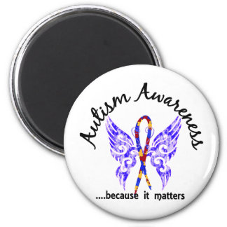 Grunge Tattoo Butterfly 6.1 Autism Magnet