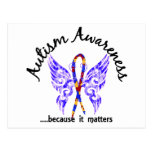 Grunge Tattoo Butterfly 6.1 Autism Postcards