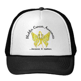 Grunge Tattoo Butterfly 6.1 Bladder Cancer Trucker Hat