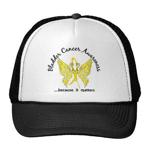 Grunge Tattoo Butterfly 6.1 Bladder Cancer Mesh Hat