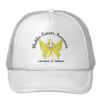 Grunge Tattoo Butterfly 6 1 Bladder Cancer Hats