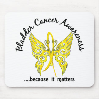 Grunge Tattoo Butterfly 6.1 Bladder Cancer Mousepads