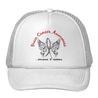 Grunge Tattoo Butterfly 6.1 Brain Cancer Hat