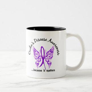 Grunge Tattoo Butterfly 6.1 Crohn's Disease Coffee Mug