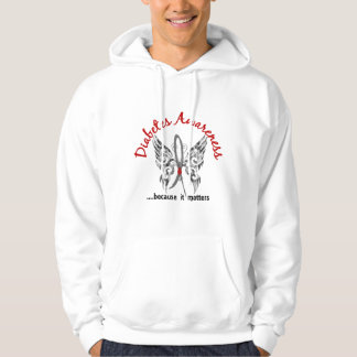 Grunge Tattoo Butterfly 6.1 Diabetes Hoodie