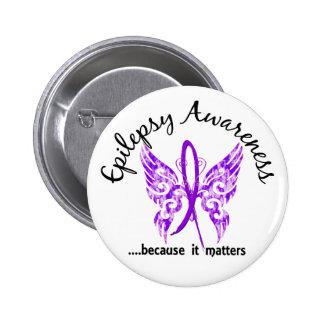 Grunge Tattoo Butterfly 6.1 Epilepsy 6 Cm Round Badge