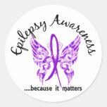 Grunge Tattoo Butterfly 6.1 Epilepsy Round Sticker