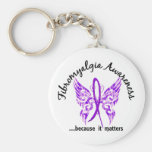 Grunge Tattoo Butterfly 6.1 Fibromyalgia Basic Round Button Key Ring