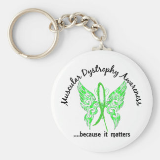 Grunge Tattoo Butterfly 6.1 Muscular Dystrophy Basic Round Button Key Ring