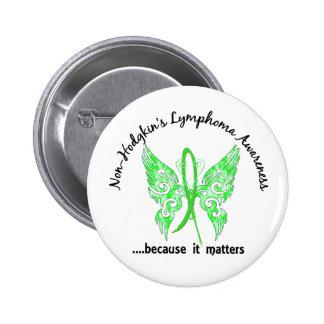Grunge Tattoo Butterfly 6.1 Non-Hodgkin's Lymphoma 6 Cm Round Badge