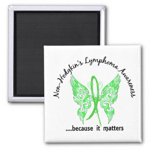 Grunge Tattoo Butterfly 6.1 Non-Hodgkin's Lymphoma Refrigerator Magnet
