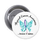 Grunge Tattoo Butterfly 6.1 Thyroid Cancer Badge