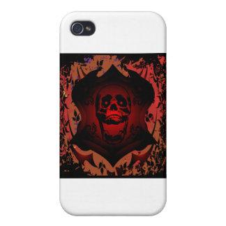 Grunge Tattoo Skull Full Background iPhone 4/4S Covers