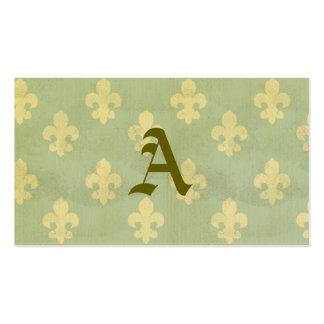 Grunge,teal,vintage,fleur de lis,pattern,victorian Double-Sided standard business cards (Pack of 100)