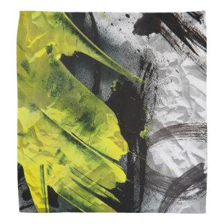 Grunge texture expressive brush strokes bandana