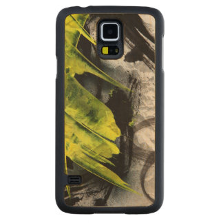 Grunge texture expressive brush strokes carved maple galaxy s5 case
