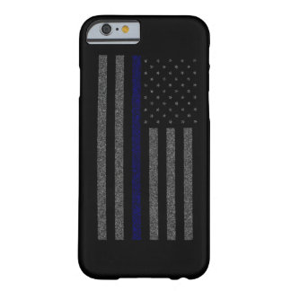 Grunge Thin Blue Line Flag Fitted Barely There iPhone 6 Case