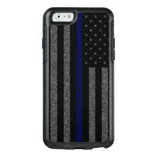 Grunge Thin Blue Line Flag OtterBox iPhone 6/6s Case