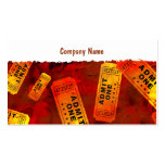 Grunge Tickets Double-Sided Standard Business Cards (Pack Of 100)