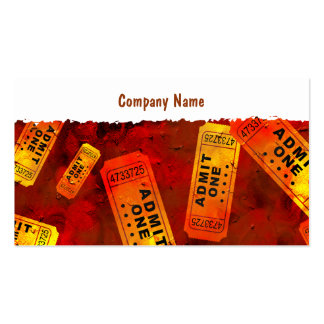 Grunge Tickets Pack Of Standard Business Cards