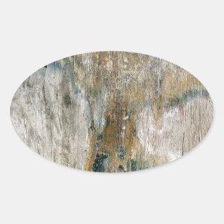 Grunge tile pattern oval sticker