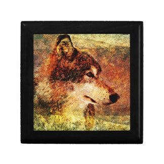 Grunge Timber Wolf Gift Box Design