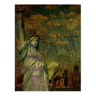 grunge trendy USA vintage New York Postcards