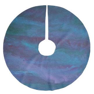 Grunge | Turquoise Teal Blue Violet Purple Brushed Polyester Tree Skirt