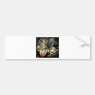 Grunge type flower bumper sticker
