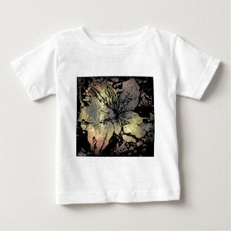 Grunge type flower t shirt