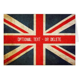 Grunge Union Jack / British Flag Card