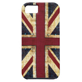 Grunge Union Jack - classic - vintage look iPhone 5 Cover