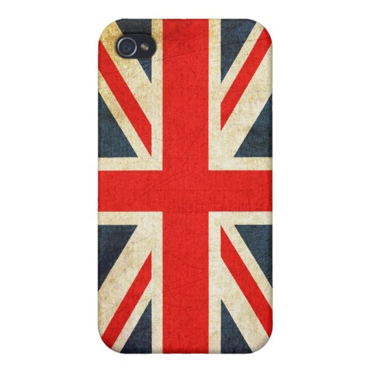 Grunge Union Jack  Cover For iPhone 4