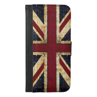 Grunge Union Jack flag iPhone 6/6s Plus Wallet Case