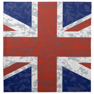 Grunge Union Jack Flag Napkin