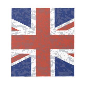 Grunge Union Jack Flag Notepad