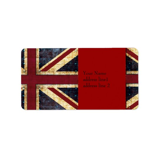Grunge Union jack label