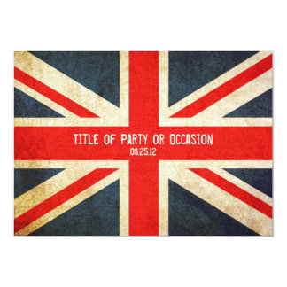 Grunge Union Jack Party Invitation / UK Invitation